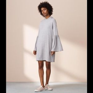 Lou and Grey Signature Soft Hooded striped Dress